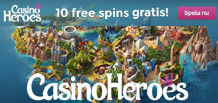10 gratis spinn i April 2017 hos CasinoHeroes
