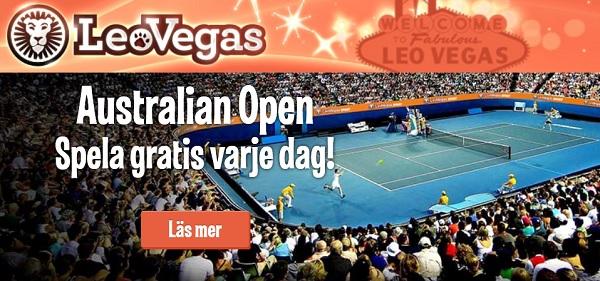 100 kr gratis på Australian Open från Leo Vegas