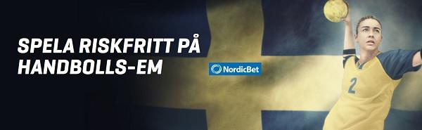 100 kr gratis på Handbolls EM från Nordicbet