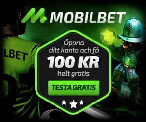 Mobilbet Casino 100 kr gratis