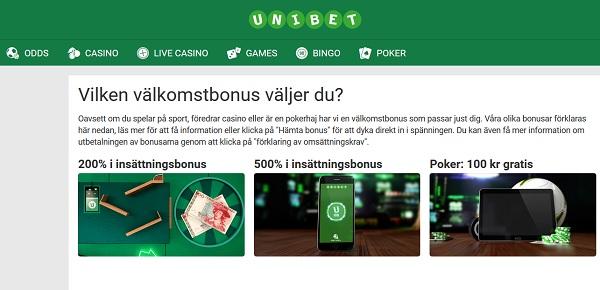 100 kr gratis poker från Unibet