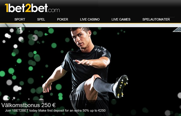 1bet2bet spelbolag med 2500 kr odds bonus
