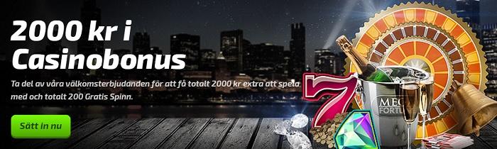 200 gratis spinn hos Mobilbet och 2000 kr casinobonus