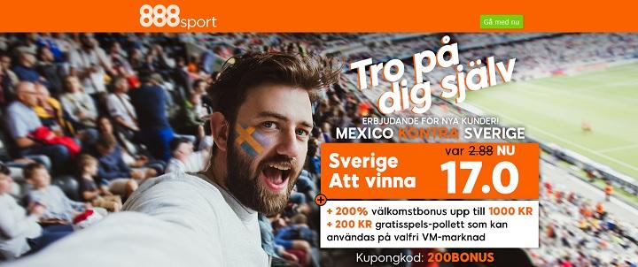 200 kr gratis spel på VM 2018