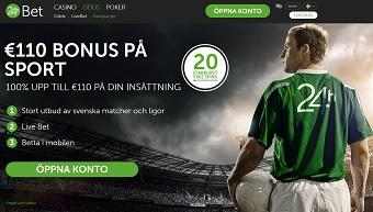 24h Bet odds bonus 1000 kr gratis