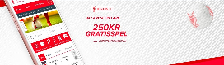 250 kr gratis hos Legolasbet