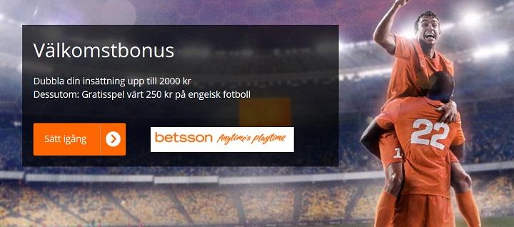 250 kr gratis på Engelsk fotboll från Betsson