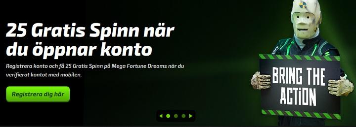 125 gratis spinn hos Mobilebet till nya spelare