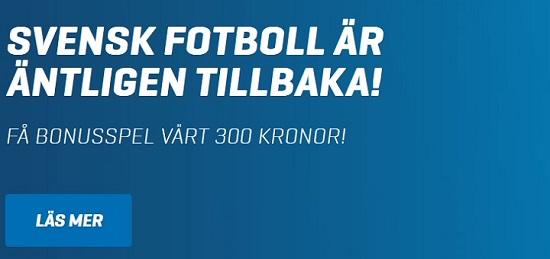 300 kr gratis på Allsvenskan från Nordicbet