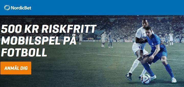 500 kr gratis på fotboll från Nordicbet