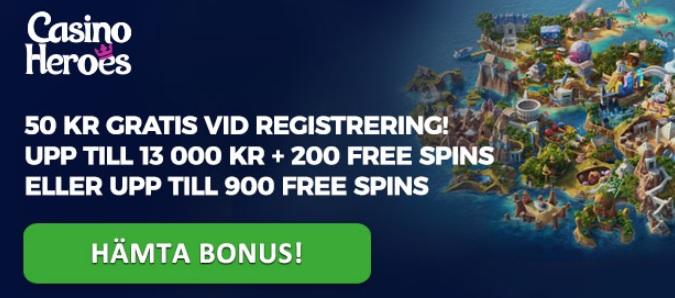 50 kr gratis casino till nya spelare 2018