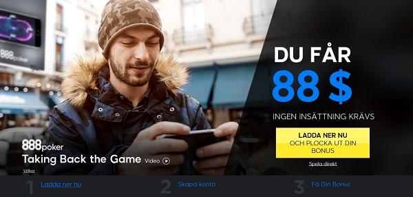 700 kr gratis poker från 888 poker