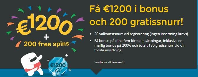 Casumo 20 gratis spinn
