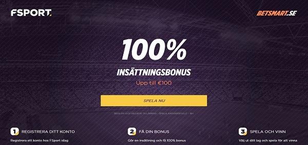 Fsport bonus med 100% gratis upp till 1000 kr