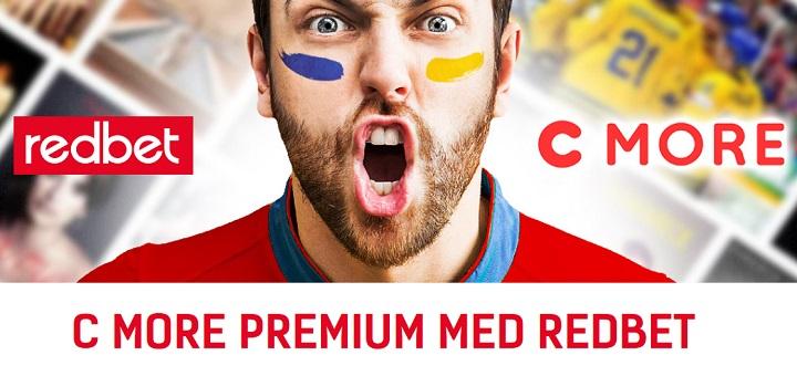 Cmore Premium Gratis i en månad från Redbet