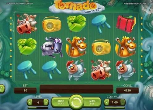Premiär av spelautomaten Tornado Farm Escape från NetEnt