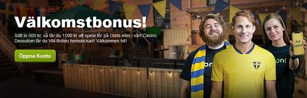 Gratis VM-boll och 1000 kr bonus hos ComeOn
