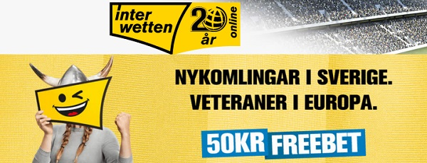 50 kr gratis sport på Interwetten