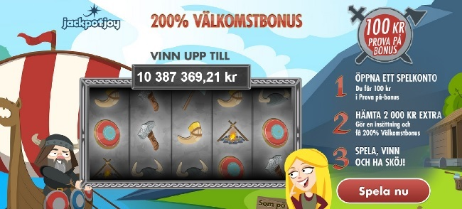 100 kr gratis på jackpotjoy