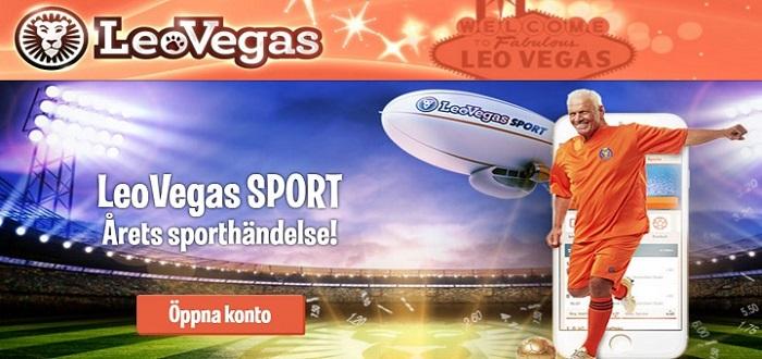 1000 kr bonus med Leo Vegas Sport bonus