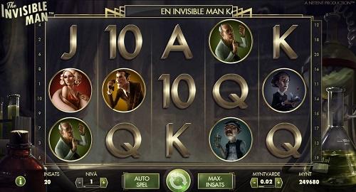 Free spins på the Invisible Man den 11 december