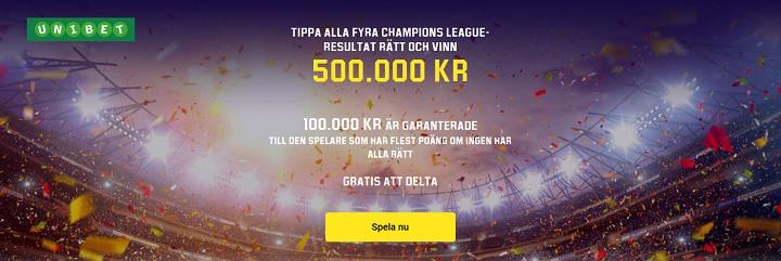 Tippa gratis på Champions League hos Unibet