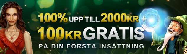 Videoslots Casino 100 kr gratis