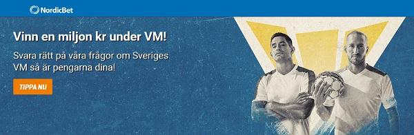 Vinn 1 miljon på VM med NordicBet