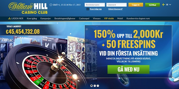 William Hill gratis