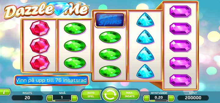 30 free spins dazzle me