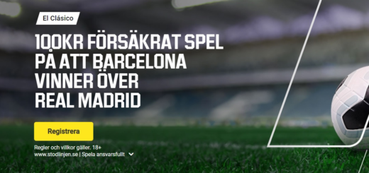 100 kr gratis på barcelona - real madrid