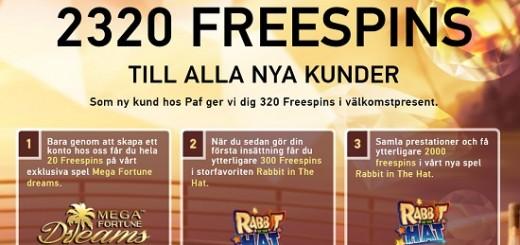 320 gratis Spinn